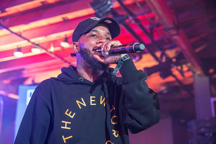 Tory Lanez takes the stage at the Bud Light Factory during the Interscope Showcase on March 17, 2016 in Austin, Texas.