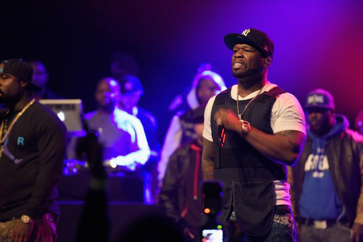 50 cent performs at Power 105.1 Breakfast Club Anniversary Party