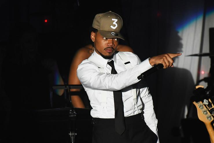 Chance the Rapper at the Recording Academy's 2017 Pre-GRAMMY Gala