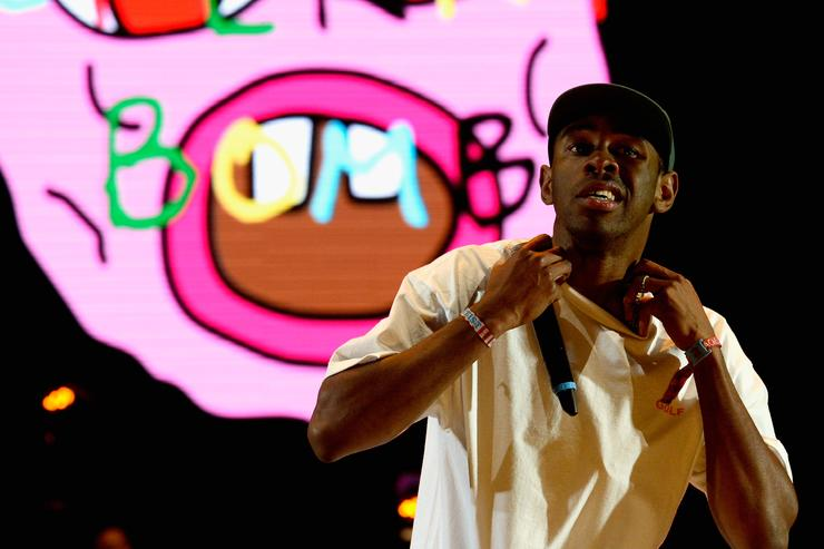 Tyler, The Creator performs onstage during day 2 of the 2015 Coachella Valley Music & Arts Festival