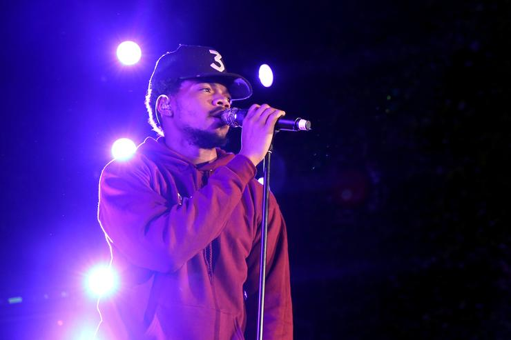 Chance The Rapper performs onstage durinng Take-Two's Annual E3 Kickoff Party