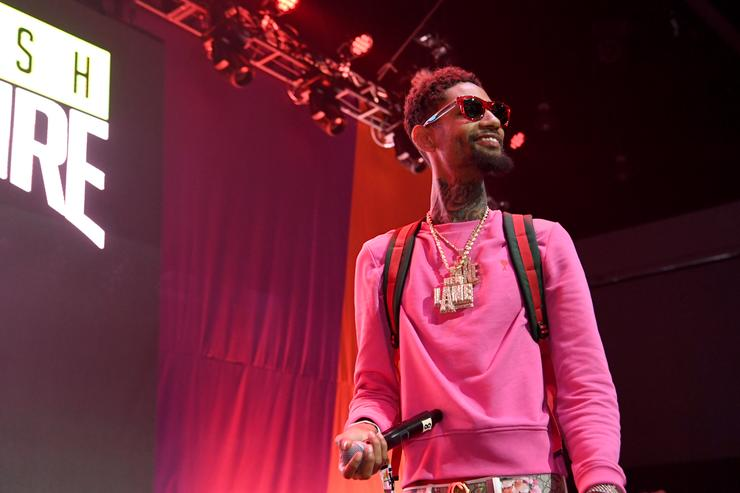 PnB Rock performs onstage at the Main Stage Performances during the 2017 BET Experience