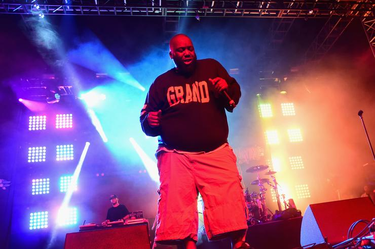 Killer Mike of Run the Jewels performs onstage during day 2 of the 2015 Coachella Valley Music & Arts Festival