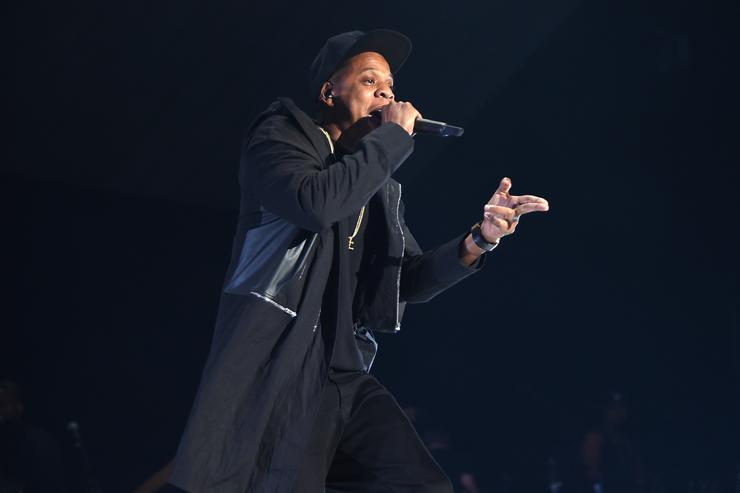 Jay-Z performs onstage during TIDAL X: 1020 Amplified by HTC